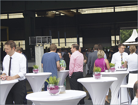 Corporate Design Agentur - Corporate Design auch auf Firmenevents